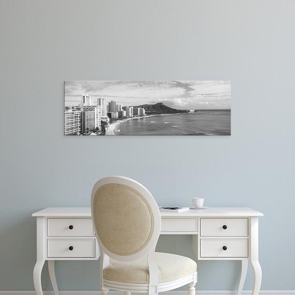 Easy Art Prints Panoramic Images's 'Volcanic mountain, Diamond Head, Waikiki, Oahu, Honolulu, Hawaii' Canvas Art