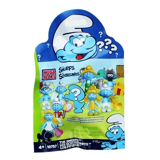 The Smurfs Mega Bloks Blind Figure Pack, One Random - Multi