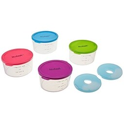 Fit & Fresh Multicolored Portion Control Containers, 1 Cup (Set of 4)