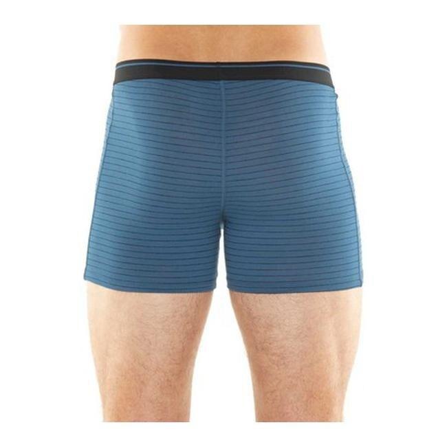 Icebreaker Anatomica Mens Underwear Boxer Shorts Thunder Black Stripe