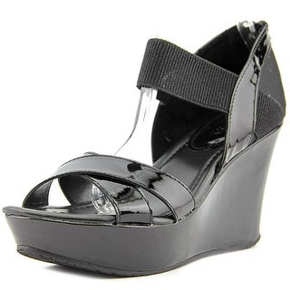 Kenneth Cole Reaction Sole Fit Open Toe Patent Leather Wedge Sandal