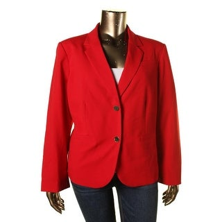 Calvin Klein Womens Plus Notch Collar Single Vent Two-Button Blazer - 24W