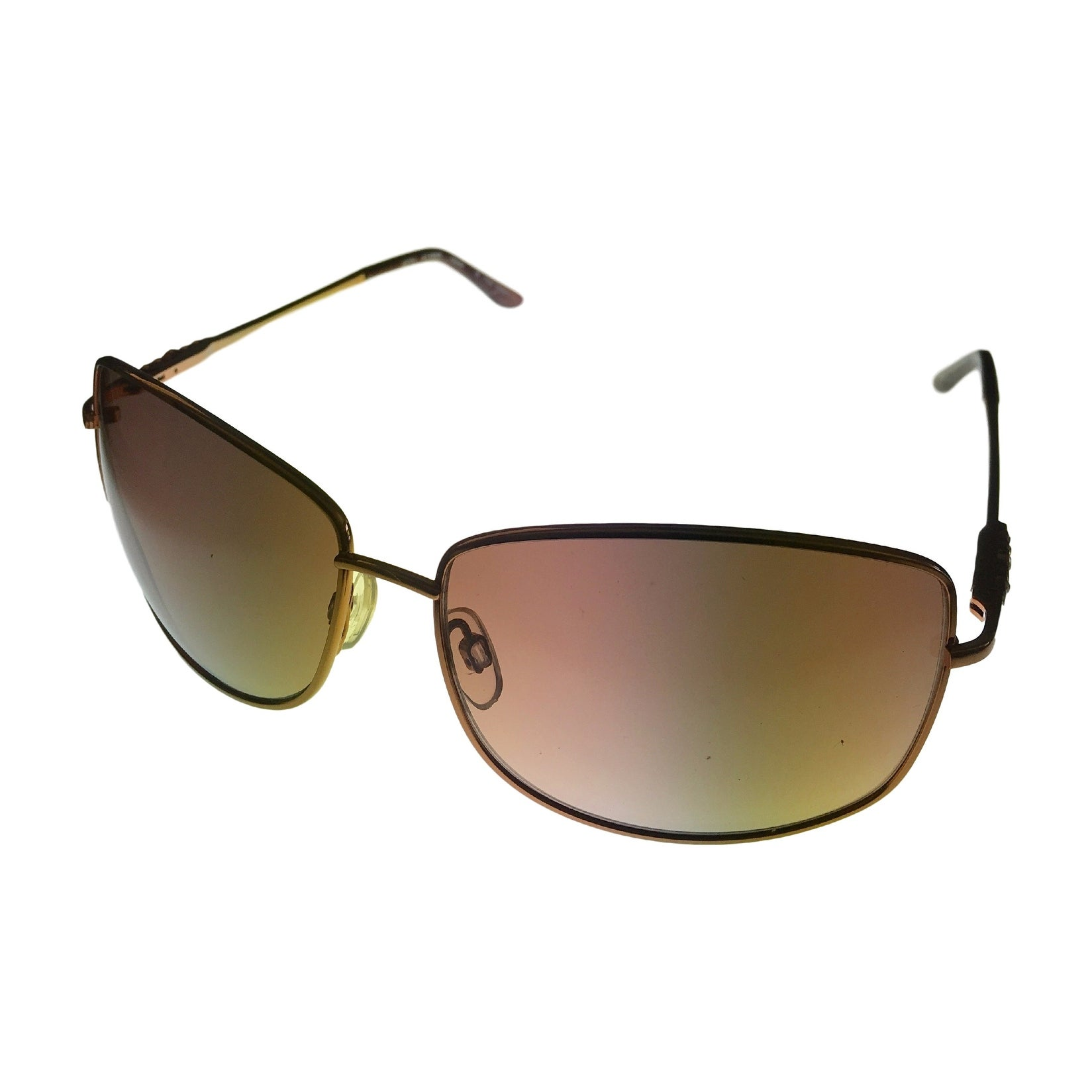 Esprit Sunglass 19309 535 Womens Brown Metal Fashion Avaitor, Gradient Lens - Thumbnail 0