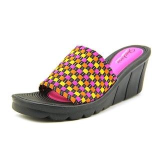 Skechers Promenade - Shopper Women Open Toe Canvas Multi Color Wedge Sandal