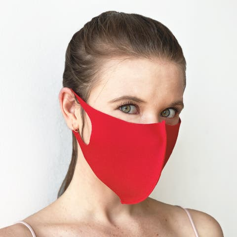 3 Pack Unisex Cloth Face Mask, Black Dust Cotton, Washable, Reusable Cloth Black, Navy & Red - One Size