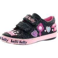 Lelli Kelly Girls Lk8118 Glitter Canvas Fashion Sneakers - blue/navy glitter