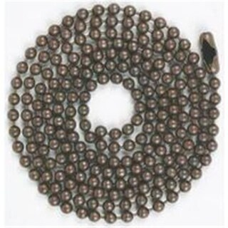 Jandorf Specialty Hardw Chain Bead W/Con No 6 3Ft Brz 60352