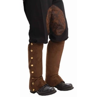 Steampunk Male Spats Costume Accessory - Brown