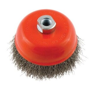 """Forney Industries 72754 Crimped Wire Cup Brush, 5"""""""