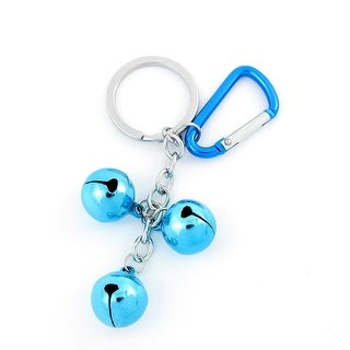 Link to Blue Metal 3 Bells Dangling Carabiner Key Ring Keychain Backpack Ornament Similar Items in Camping & Hiking Gear