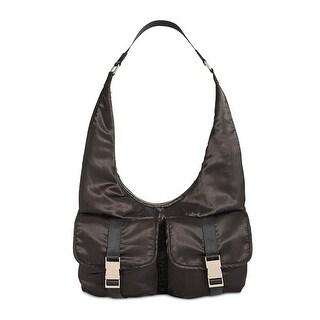 Steve Madden Womens Cole Hobo Handbag Satin Shoulder - LARGE