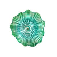 """20"""" Blue and Green Glossy Finished Decorative Wall Decor"""