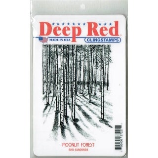 Deep Red Stamps Moonlit Forest Rubber Cling Stamp - 3 x 4.1