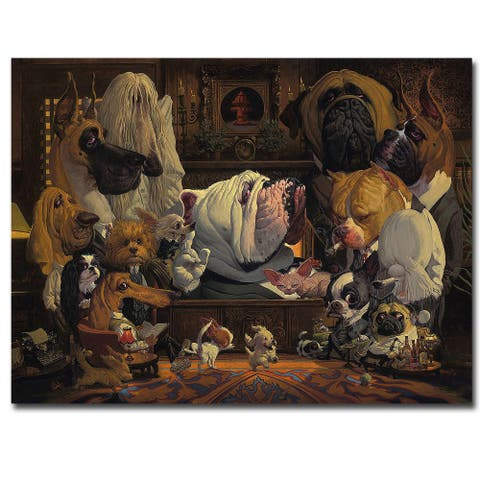 Dogfather by Thomas Fluharty Gallery Wrapped Canvas Giclee Art (18 in x 24 in)