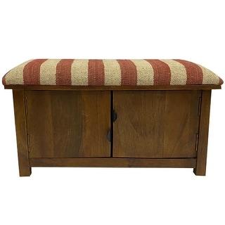 Link to Handmade Kilim Upholstered Storage Bench Similar Items in Living Room Furniture