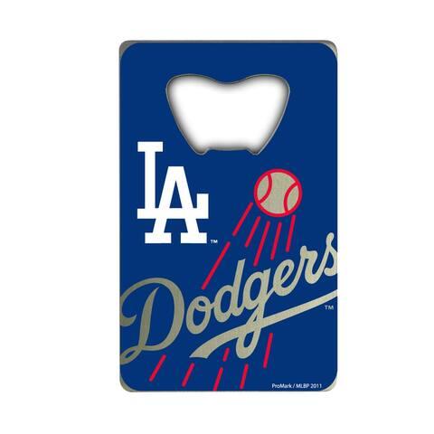 MLB - Los Angeles Dodgers Metal Credit Card Bottle Opener - 2in. X 3.25in.
