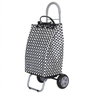 Basket Weave Tote 2-in-1 Trolley Dolly - Black