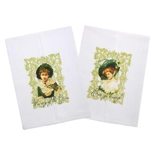 Bonny Lass St. Patrick's Day Cotton Printed Tea Towel (Set of 1 or 2)