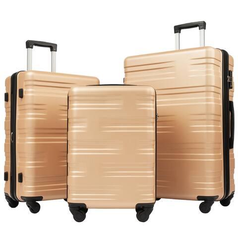 Merax 3 Piece Luggage Sets TSA Spinner Suitcase Lightweight 20 24 28 inch