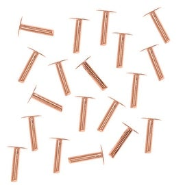 Copper 1/4 Inch Nail Head Rivets 1.3mm Diameter (20)