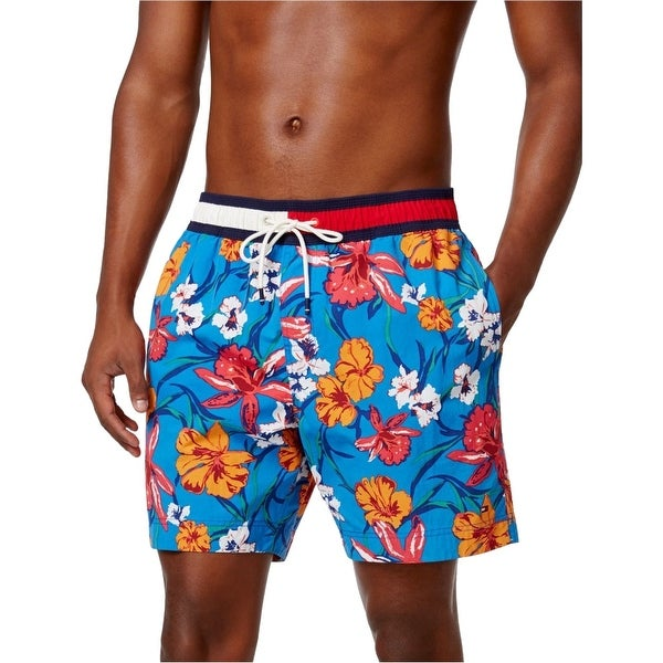 26931203fa Shop Tommy Hilfiger Blue Mens Size 2XL Floral Print Board Surf Shorts -  Free Shipping On Orders Over $45 - Overstock - 21711285