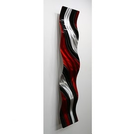 Statements2000 Red / Black Metal Wall Art Accent Wave by Jon Allen - Critical Mass Wave
