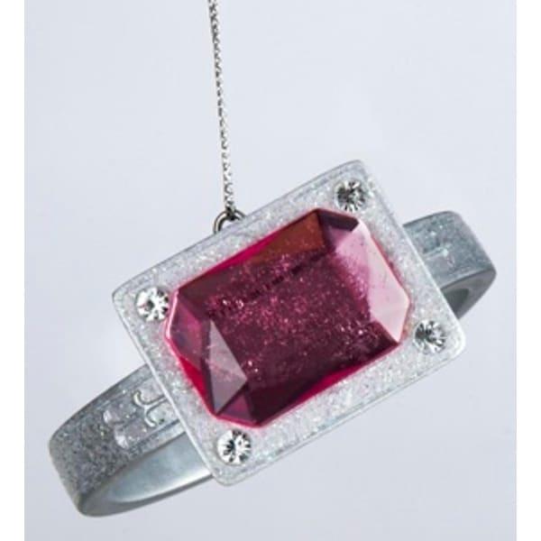 "3"" Fashion Avenue Pink Gemstone Ring Christmas Ornament - CLEAR"