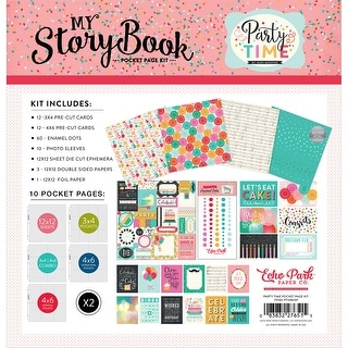 """My Story Book Pocket Page Kit 12""""X12""""-Party Time"""