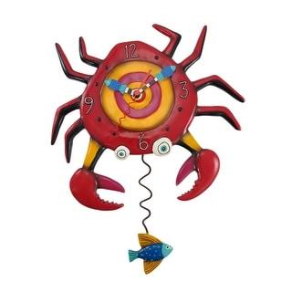 Allen Designs Crabby Sand Crab Pendulum Wall Clock - 14 X 10.5 X 2 inches