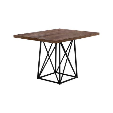 """Offex Dining Table - 36"""" x 48"""" Brown Reclaimed Wood-Look/Black - Not Available"""