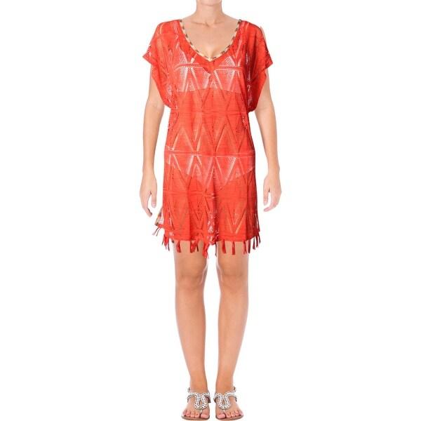 c1cf86945c Shop PrAna Womens Seabrooke Fringe Tunic Dress Swim Cover-Up - L ...