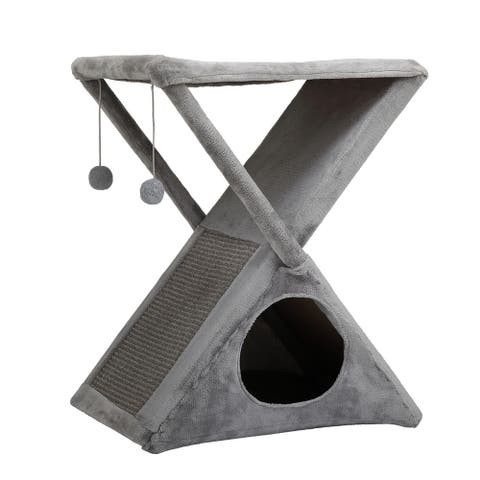 Cat Tree Towers X-frame Scratching post Pet House Cat Bed Scratcher