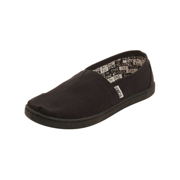 211c637f075 Shop TOMS Youth Classic Canvas Shoes in Black - Free Shipping On ...