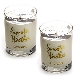 Campfire Scented Jar Candle, Hints of Smoky Pine and Cedar (2 Pack)