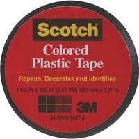 """3M Scotch 1-1/2""""Blk Pl Tape 191BK Unit: ROLL"""