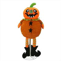 35 in. Battery Operated Standing Pumpkin 35 Warm White LED Lights
