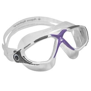 Aqua Sphere Women's Vista Clear Lens Swim Goggle Mask - White/Gray/Lavender