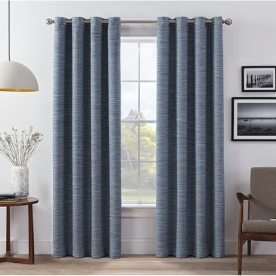 Eclipse Wyckoff Blackout Window Curtain Panel Pair