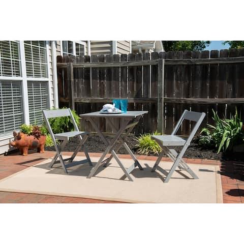 Seacrest Gray Three Piece Square Table Set