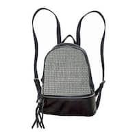 Bernie Mev Women's BM34 Medium Backpack Black Nylon/Leather/Pewter - US Women's One Size (Size None)