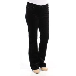 KUT $89 Womens New 1468 Black Velvet High Rsie Casual Pants 12 B+B