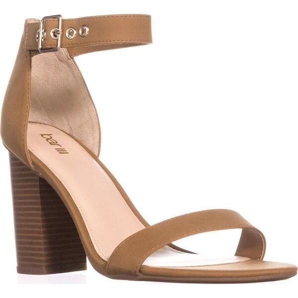 B35 Mikayla Ankle Strap Dress Sandals, Dark Tan