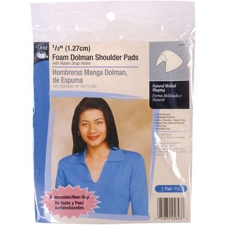 "1/2"" Foam Dolman Shoulder Pads 2/Pkg-Beige - White"