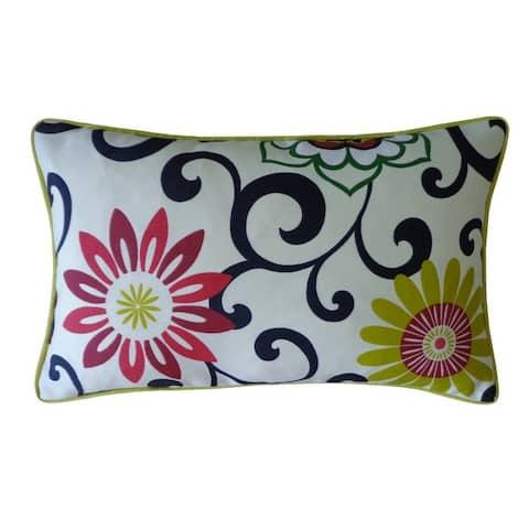 Jiti Floral Country Sunbrella Outdoor Pillows - 12 x 20