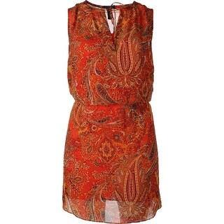 Lauren Ralph Lauren Womens Plus Casual Dress Chiffon Paisley - 16W