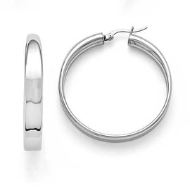 Chisel Stainless Steel Polished 6.75mm Hoop Earrings