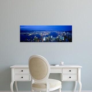 Easy Art Prints Panoramic Images's 'Hong Kong China' Premium Canvas Art