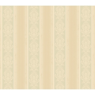 "Brewster SRC113011-SAM  8""x 10"" Sample of SRC113011 - Beige Arabelle Stripe"