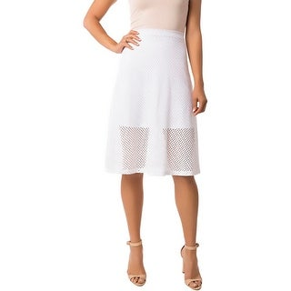 Eight Sixty Womens A-Line Skirt Eyelet Knee-Length