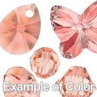 Swarovski Elements Crystal, Round Flatback Rhinestone Hotfix SS12 3mm, 50 Pieces, Rose Peach